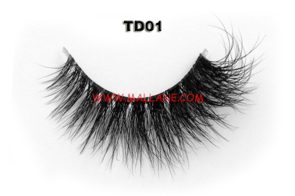 3D Clear Band Mink Strip Lashes TD01