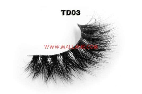 3D Clear Band Mink Strip Lashes TD03