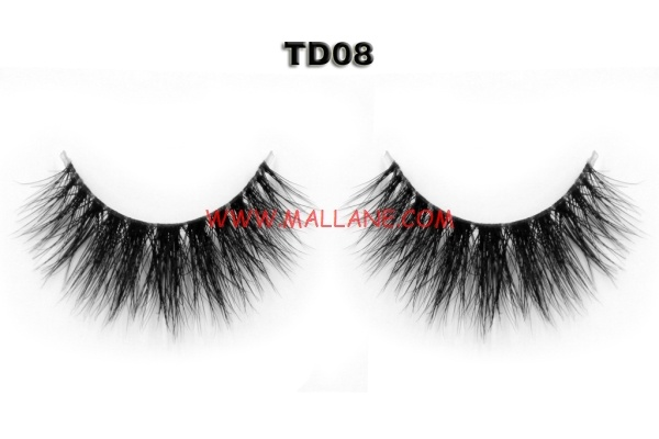 3D Clear Band Mink Strip Lashes TD08