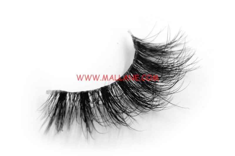 3D Clear Band Mink Strip Lashes SC24
