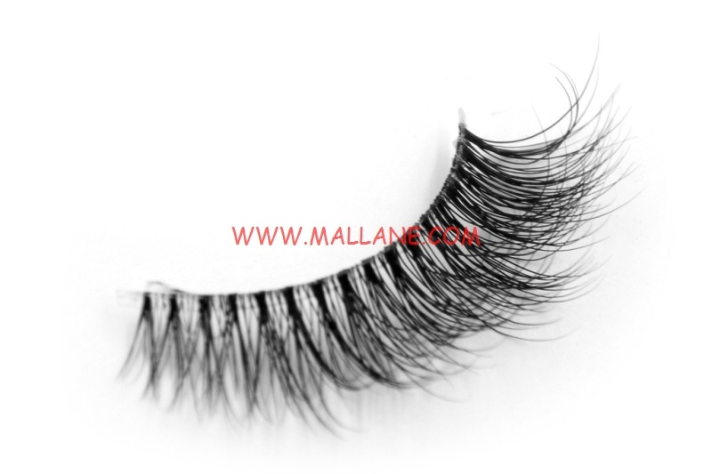 3D Clear Band Mink Strip Lashes SC25