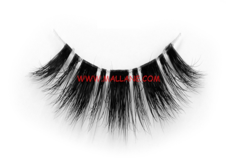 3D Clear Band Mink Strip Lashes SC33