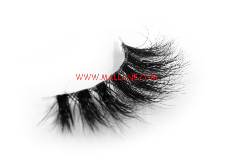 3D Clear Band Mink Strip Lashes SC34
