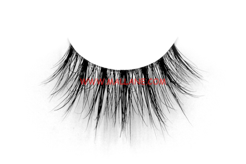 3D Clear Band Mink Strip Lashes SC35