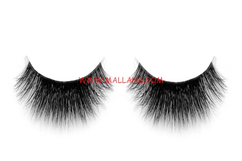 3D Clear Band Mink Strip Lashes SC37