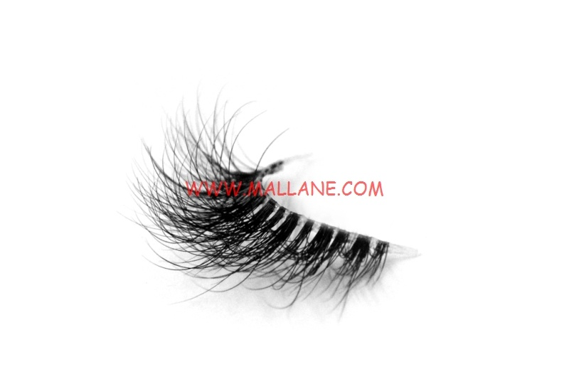 3D Clear Band Mink Strip Lashes SC41