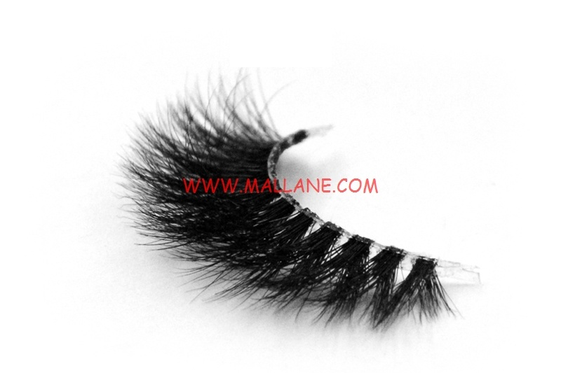 3D Clear Band Mink Strip Lashes SC53