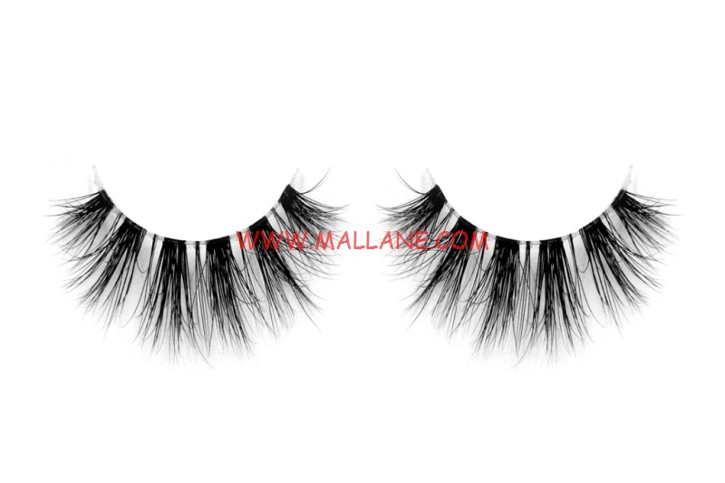 3D Clear Band Mink Strip Lashes SC55