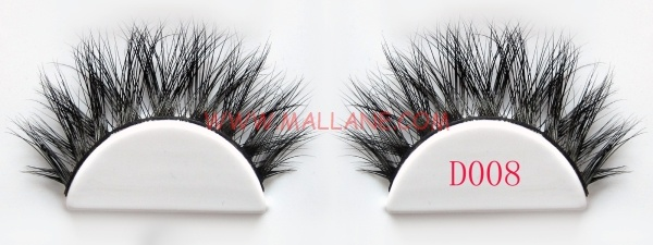 3D Style Mink Strip Lashes D008