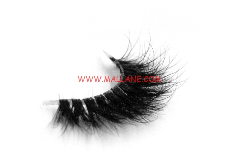 3D Clear Band Mink Strip Lashes SC64