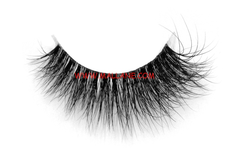 3D Clear Band Mink Strip Lashes SC66