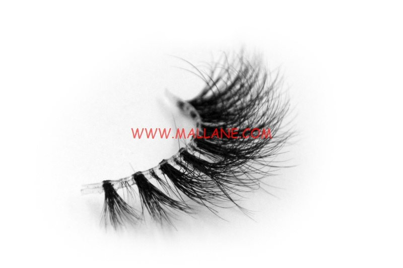 3D Clear Band Mink Strip Lashes SC67