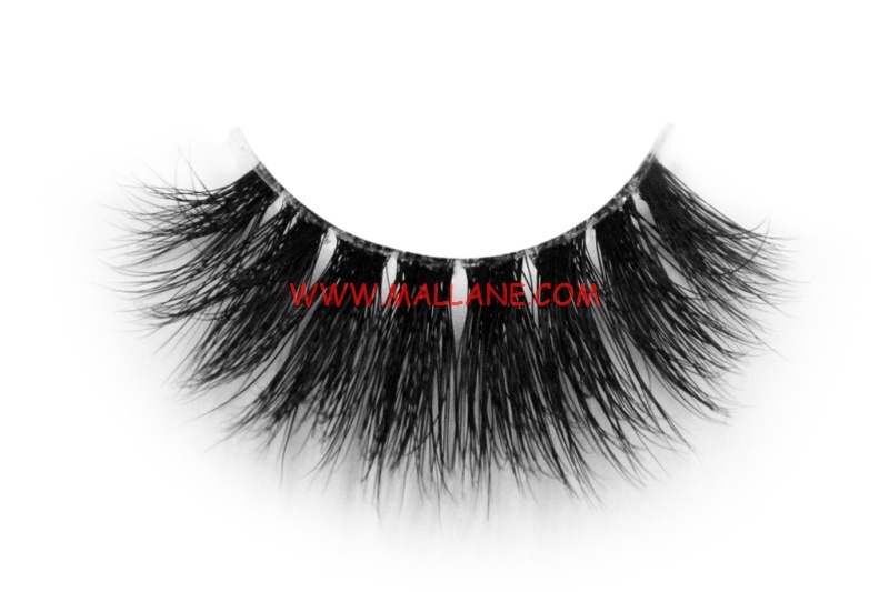 3D Clear Band Mink Strip Lashes SC69