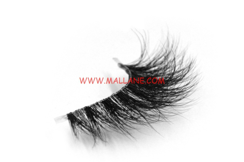 3D Clear Band Mink Strip Lashes SC70