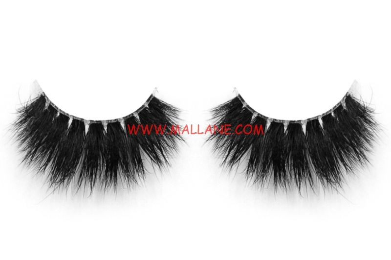3D Clear Band Mink Strip Lashes SC71
