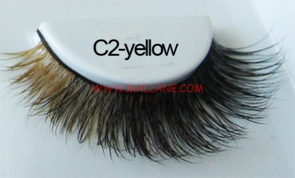 Colored Mink Strip Lashes C2-yellow