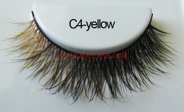 Colored Mink Strip Lashes C4-yellow