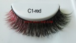 Colored Mink Strip Lashes C1-red