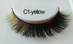 Colored Mink Strip Lashes C1-yellow