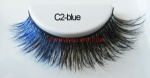 Colored Mink Strip Lashes C2-blue