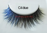 Colored Mink Strip Lashes C4-blue